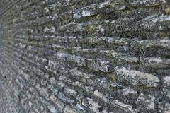 Old wall out of focus at an angle royalty free stock images