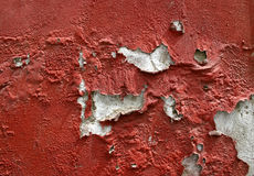 Old Wall Paint. Old red paint peeling off a a wall Royalty Free Stock Image