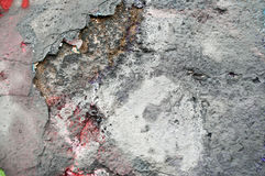 Old wall with paint peeling Royalty Free Stock Photo