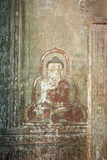 Old wall painting. The traditional old wall painting in Myanmar Stock Images