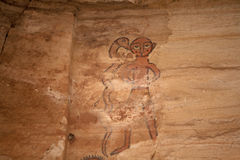 Old wall paintings, Ethiopia Stock Photography