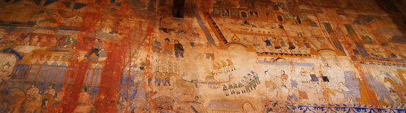Old wall paintings. In Temple Thailand Royalty Free Stock Image