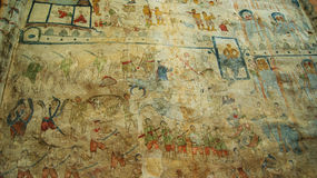 Old wall paintings. In Temple Thailand Stock Image