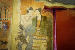Old wall paintings. In Temple Thailand Royalty Free Stock Photography
