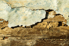 Old wall pattern wood. Clay stock photo