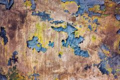 Old wall with peeled paint. Close view Royalty Free Stock Images