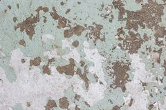 Old wall with peeling paint. Background, texture Royalty Free Stock Image
