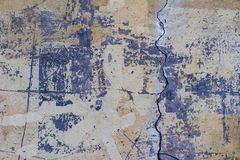 Old wall peeling paint cement background texture royalty free stock photos