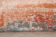 Old wall with peeling paint Royalty Free Stock Photo