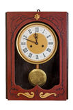 Old wall  pendulum  clock Stock Image