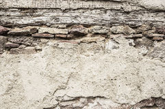 Old wall plaster wood ruin , background Royalty Free Stock Photo