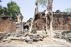 Old Wall at Preah Khan Stock Images