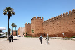 Old wall in Rabat, Morocco Royalty Free Stock Photo