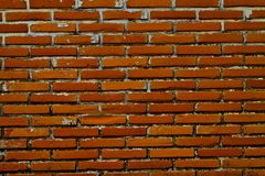 Old Wall from a red brick Royalty Free Stock Photos