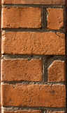 Old wall from a red brick Royalty Free Stock Photo
