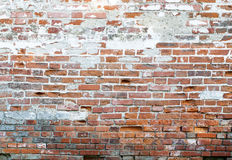 Old wall of red brick cracked. Background old wall of red brick cracked Royalty Free Stock Photography