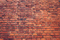 Old wall of red brick. grunge texture. Stock Photos