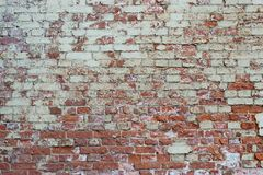 Old wall from a red brick Royalty Free Stock Images