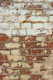 Old wall from a red brick Royalty Free Stock Image