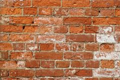 Old wall from a red brick Royalty Free Stock Photography