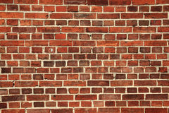 Old wall with red bricks Stock Photography