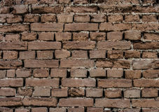 Old wall of red briks. Red brick wall Royalty Free Stock Photography