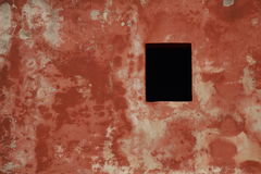 An old wall with red plaster. Old wall with red plaster Royalty Free Stock Photo