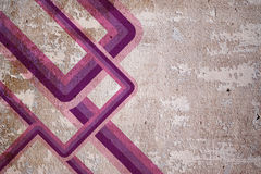 Old wall with retro lines Stock Photography