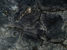 Old wall. Old rough wall of black color Royalty Free Stock Image