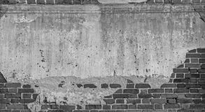 Old wall rupture brick background. Stock Photo