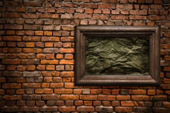 Old wall with a scope Royalty Free Stock Image