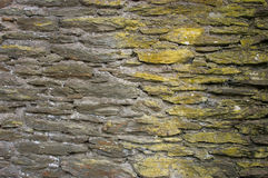 Old wall from shale. Old facade architecture. Background Stock Image