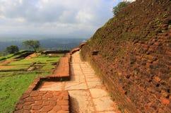 Old wall of Sigiriya castle Royalty Free Stock Photography