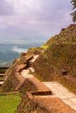 Old wall of Sigiriya palace, Sri lanka. Ancient  stone  wall of Sigiriya palace, Sri lanka Royalty Free Stock Photos
