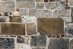 Old wall of the Sint Pancratius church. stock images