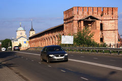 Old wall in Smolensk Stock Image