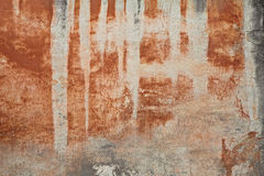 Old wall with stained plaster Stock Photo