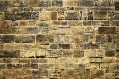 Old wall with stone blocks royalty free stock photo