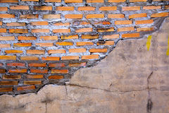 Old wall of stone brick. A Old wall of stone brick near the temple Royalty Free Stock Photos