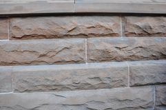 Old Wall of Stone details of a Historic Building in Downtown from Toronto. Of Ontario Province in Canada on June 2017 Stock Photography