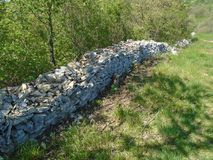 Old wall, old stone wall, royalty free stock photo