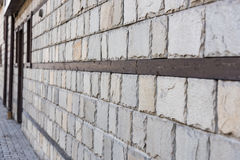 Old wall stone perspective Royalty Free Stock Photo