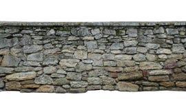 Old wall of stone shell rock of arbitrary shape. stock image