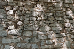 The old wall of stones and clay Royalty Free Stock Images