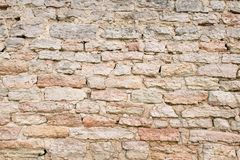 Old wall of stones. Stonework texture. Grunge background royalty free stock image