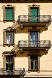 Old wall and terrace in the   centre   of city lugano Switzerlan Stock Photos