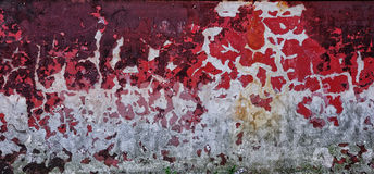 Old wall texture. With red paint on it royalty free stock photography