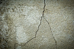 Old wall texture with crack Royalty Free Stock Images