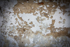 Old wall texture grunge background and black vignette Stock Images