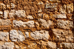 Old wall texture with large rocks Royalty Free Stock Images